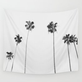 Black & White Palms Wall Tapestry