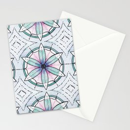 Morse Code Mandala Stationery Cards