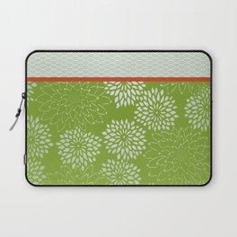 Dahlia Scallops Green and Orange Laptop Sleeve
