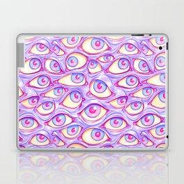 Wall of Eyes in Purple Laptop & iPad Skin