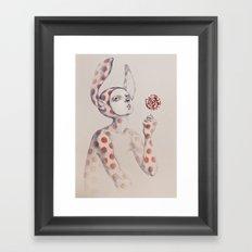 Can't resist the lollipop Framed Art Print