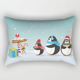 Christmas Penguins Rectangular Pillow