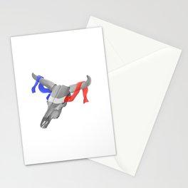 Patriotic Cow Skull Stationery Cards