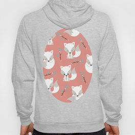 ARCTIC FOXES ON CORAL Hoody