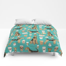 Airedale Terrier coffee print airedale terrier gifts airedale terrier phone case, pillow, home Comforters