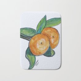 Two Oranges Bath Mat