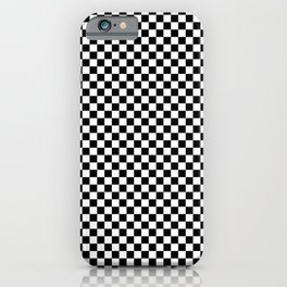 Black White Checks Minimalist iPhone Case