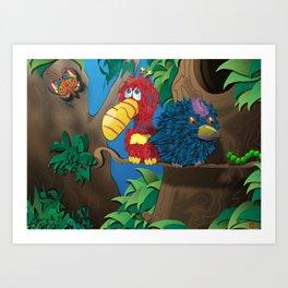 A Feathery Friendship Art Print