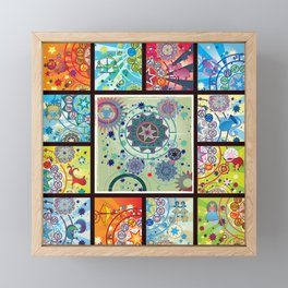 all zodiacs Framed Mini Art Print