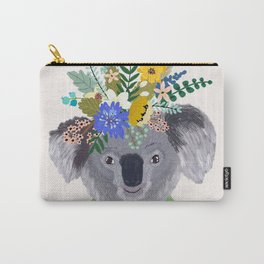 Koala with flowers on head Carry-All Pouch