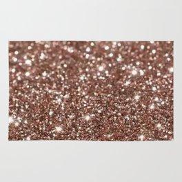 Rose Gold Glitter Rug