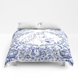 Blue Willow Tea Party Comforters