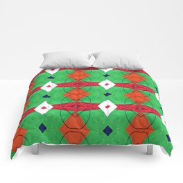 Colorful Pattern Green Red Orange Blue Comforters