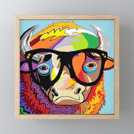 """Hipster Bison """"Buffalo"""" Framed Mini Art Print"""