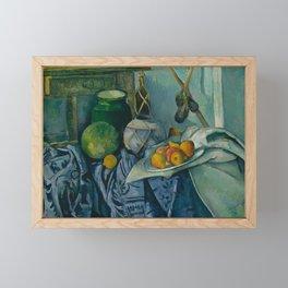 "Paul Cezanne ""Still Life with a Ginger Jar and Eggplants"" Framed Mini Art Print"