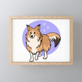 Light Sable Shetland Sheepdog Framed Mini Art Print