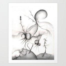 Budding Spiders Art Print