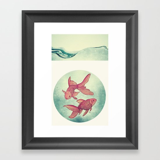 Goldfishes Framed Art Print