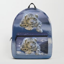 Snow Leopard and Moon Backpack