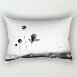 Palm 04 (Black) Rectangular Pillow