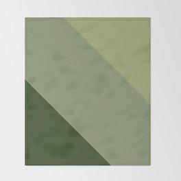 Pine Moss Sage Diagonal  Throw Blanket