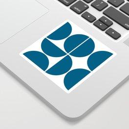 Mid Century Modern Blue Square Sticker