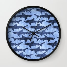 Blue Ocean Shark Wall Clock
