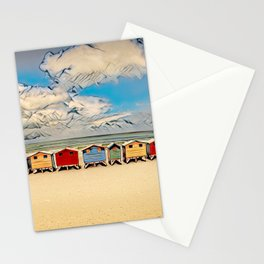 Beach Huts, Muizenberg Beach, South Africa Stationery Cards