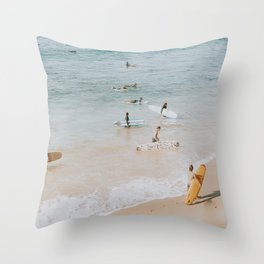 lets surf iii Throw Pillow
