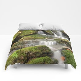 Mossy Rohrbaugh Waterfall Comforters