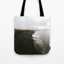 Moody black sand beach in Iceland - Landscape Photography Tote Bag