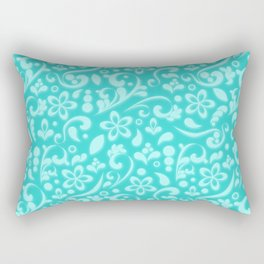 Frosty flowers at the heart of winter Rectangular Pillow