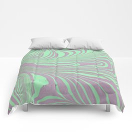 Violet mint green abstract watercolor marble Comforters