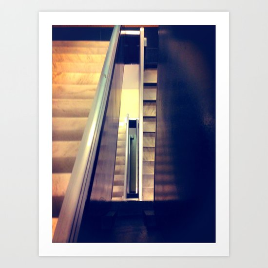 Staircase #4 Color Art Print