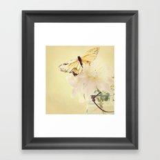 PASTEL PEONY Framed Art Print