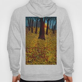 Trunks trees in sunrise Hoody