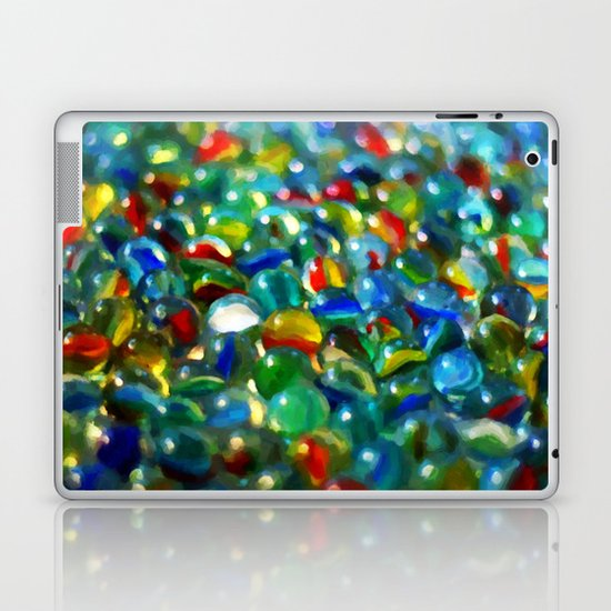 Marbles... Lost & Found - Painting Style Laptop & iPad Skin