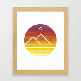 Minimalistic Watercolor Sunset Framed Art Print