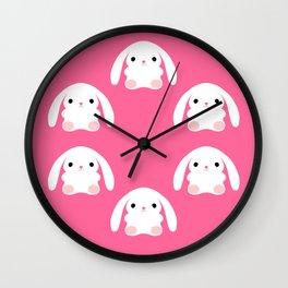 Mei the Strawberry Rabbit Wall Clock