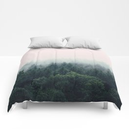 Between every two pines is a doorway to a new world Comforters