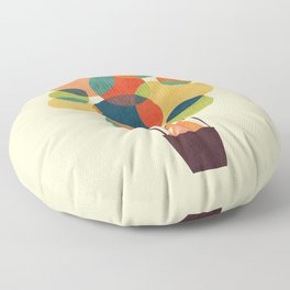Whimsical Hot Air Balloon Floor Pillow