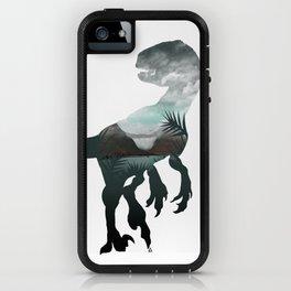 Velociraptor Minimalist Splash iPhone Case