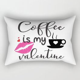 Coffee is My Valentine Rectangular Pillow