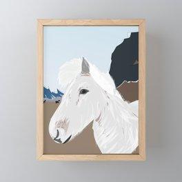 Icelandic Horse, Iceland Framed Mini Art Print