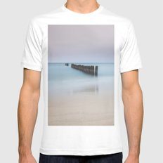 Into the sea White MEDIUM Mens Fitted Tee