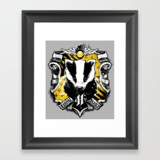 Hufflepuff Daddy Framed Art Print