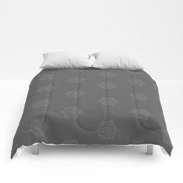 Snowflake I Gray Comforters