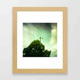 Street lamp Framed Art Print