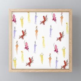 Flower Girls (Growth Series) Framed Mini Art Print