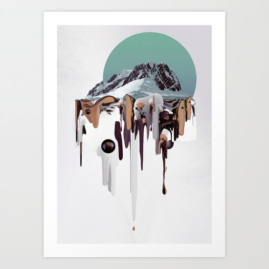 Oozing Mountain Art Print
